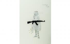 SITE-WEB-DRAWINGS-Celui-qui-fait-rêver-les-communiantes.-Crayon,--acrylique-et-gouache-sur-papier.-39X29-cm