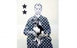 SITE-WEB-PAINTINGS--Attention-au-chien,-Acrylique,-crayon-et-vernis-sur-toile,--175X150--cm,-2007