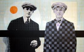 SITE-WEB-PAINTINGS--Boule-orange-,Acrylique,-crayon-et-encre-sur-toile,--100X160--cm,-2007