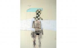 A-l'entre-jambe,-techniques-mixtes-sur-papier-marouflé-sur-toile,-30X24--cm,-2006