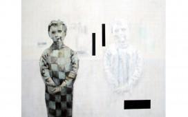 Aller-retour,Acrylique-et-vernis-sur-toile,--100X120--cm,-2005-(collection-particulière)