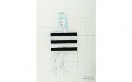 Trigramme.-Crayon,--acrylique-et-gouache-sur-papier.-39X29-cm