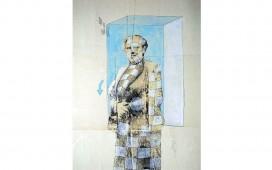 Zone-bleue.-Techniques-mixtes-sur-papier-marouflé-sur-toile.-30X24--cm