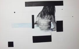 74. SITE WEB DRAWINGS-Ter aqua...Peinture et feutres sur sérigraphie. 56X76 cm. 2012 (collection particulière)
