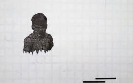 SITE WEB DRAWINGS-Ter aqua...Gouache et feutre sur sérigraphie. 56X76 cm. 2013