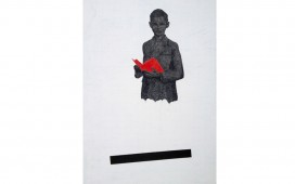SITE WEB PAINTINGS-my hands burn my mind, Acrylique, sable et encre sur toile, 125 X 175 cm, 2013