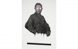 Look me, look me please, encre, acrylique et crayon sur toile, 175X150 cm, 2015